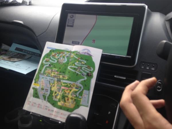 もらったパーク内の地図