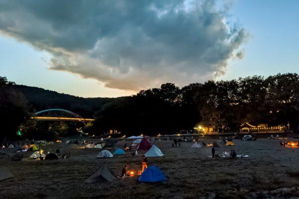 飯能河原でキャンプをしてきた